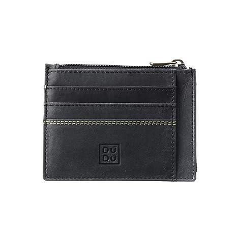 31c684b3acc293 DUDU Porta carte di credito Portamonete Uomo in Pelle Vintage invecchiato  Portafoglio Slim con Cerniera Zip