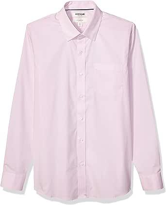 Goodthreads Slim-Fit Long-Sleeve Easy-Care Wrinkle Resistant Stretch Poplin Shirt Hombre