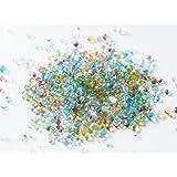 極小サイズ まんまるガラス粒 全色mixセット 10g 1mm~3mm ガラス玉 レジン パーツ 封入 アクセサリーパーツ