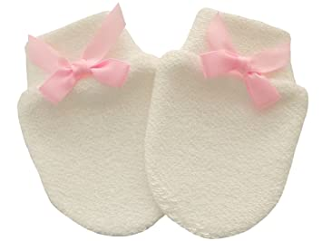 Organic Cotton Newborn Baby Anti Scratch Mittens Color Ivory