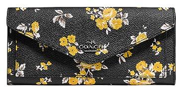 Coach Cartera grande, con flowerprint, Negro, 59512