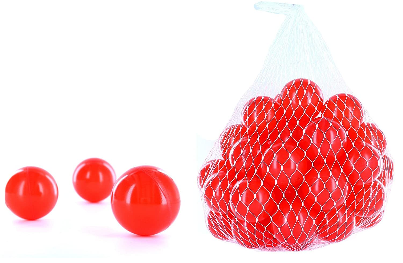 700 Bälle für ein Bällebad in der Farbe Rot für Kinder, Babys oder auch Tiere