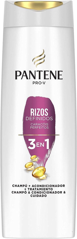 Pantene Pro-V Rizos Definidos Champú, Acondicionador y Tratamiento 3 En 1, Para Rizos Brillantes y Flexibles, 675 ml