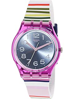 Swatch Funny Lines GP153 Purple Silicone Swiss Quartz Fashion Watch