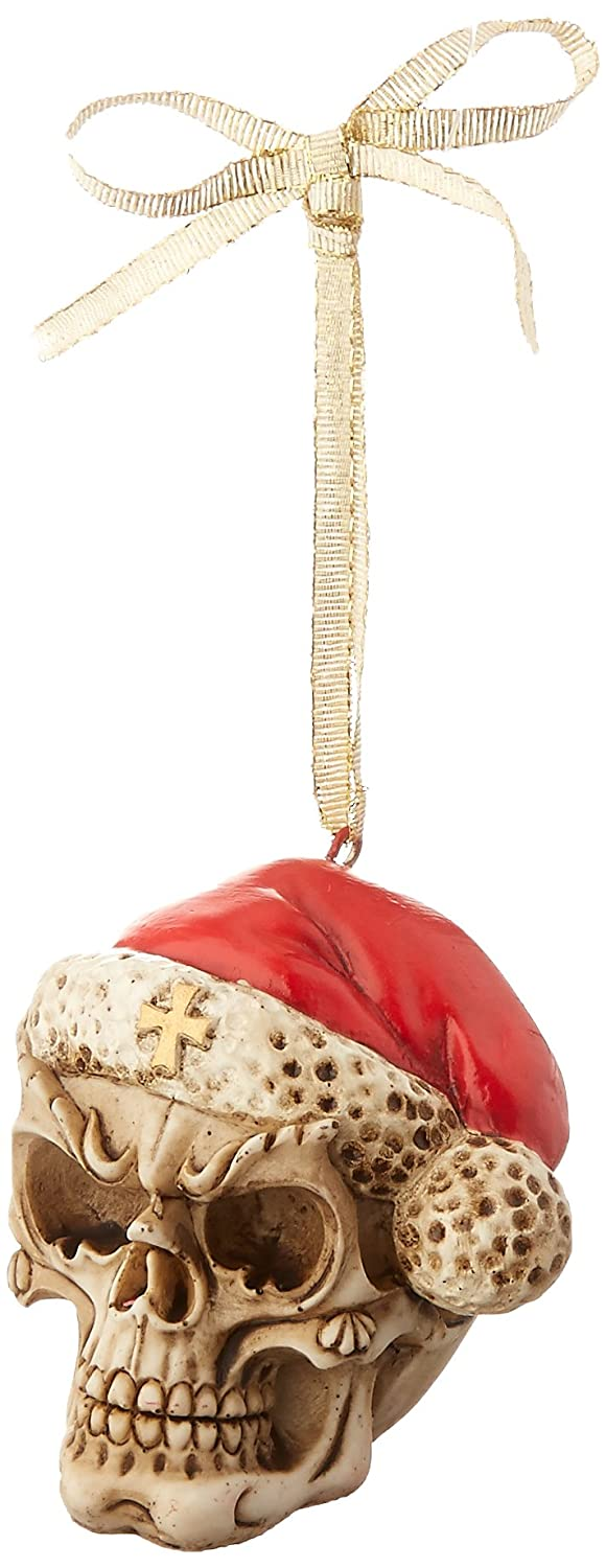 Design Toscano QS923709 Skelly Claus II Holiday Skeleton Ornament, Set of 3