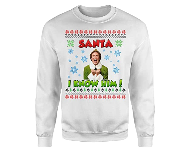ecfaa616fa Amazon.com  Buddy the Elf Sweatshirt