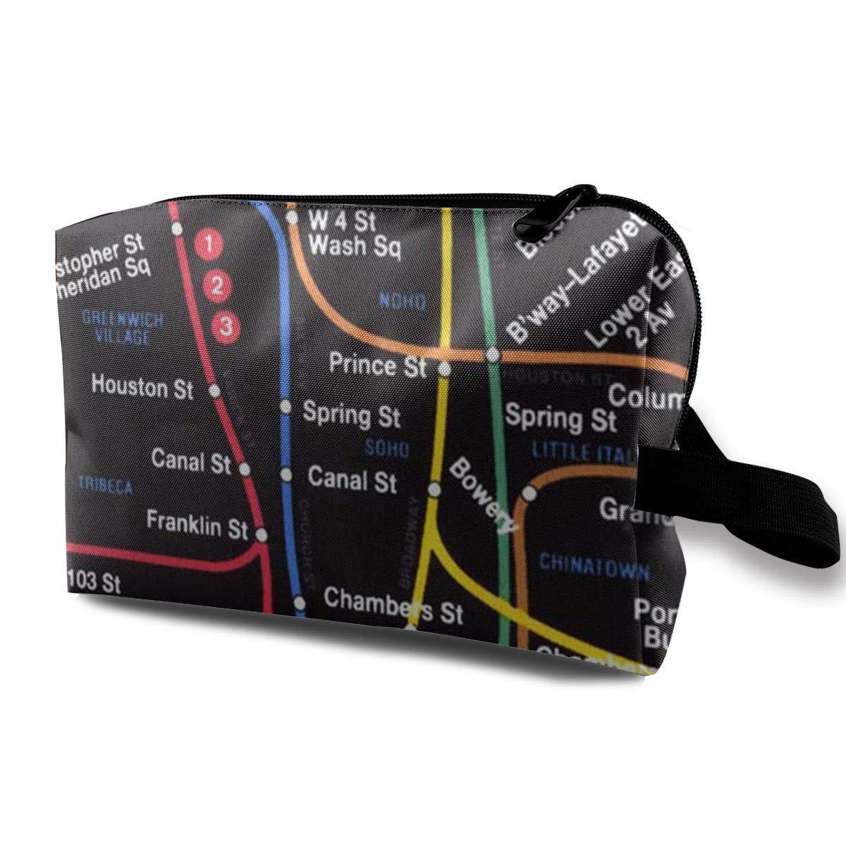 Portable Nyc Subway Map.New York City Subway Metro Map Portable Make Up Receive Bag Hand