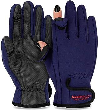 normani Wasser und Winddichte Angel Handschuhe Winterhandschuhe Fishingsports Anglerhandschuhe 2,5 mm Titanium-Neopren