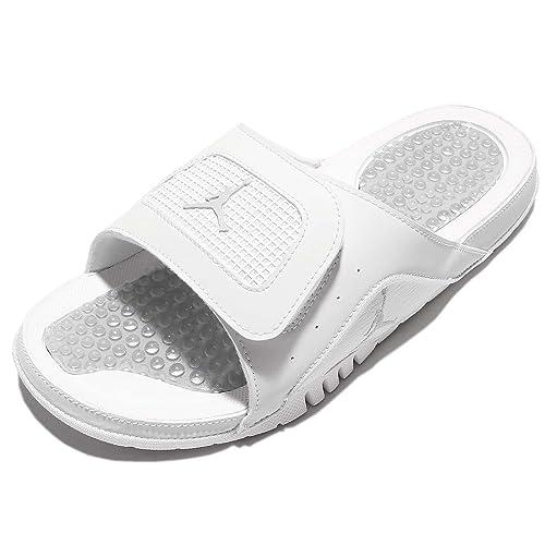 f477df034 Nike Men s Jordan Hydro IV Retro Off White Metallic Silver Sandal 10 Men  US  Amazon.ca  Shoes   Handbags