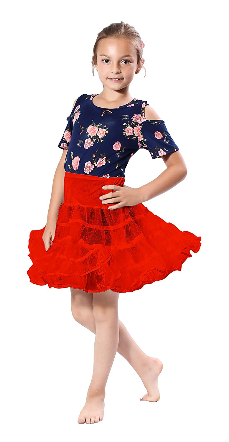 caaa0a513d Amazon.com: Malco Modes Girls Crinoline Petticoat Underskirt for Poodle  Skirt or Vintage Dress: Clothing
