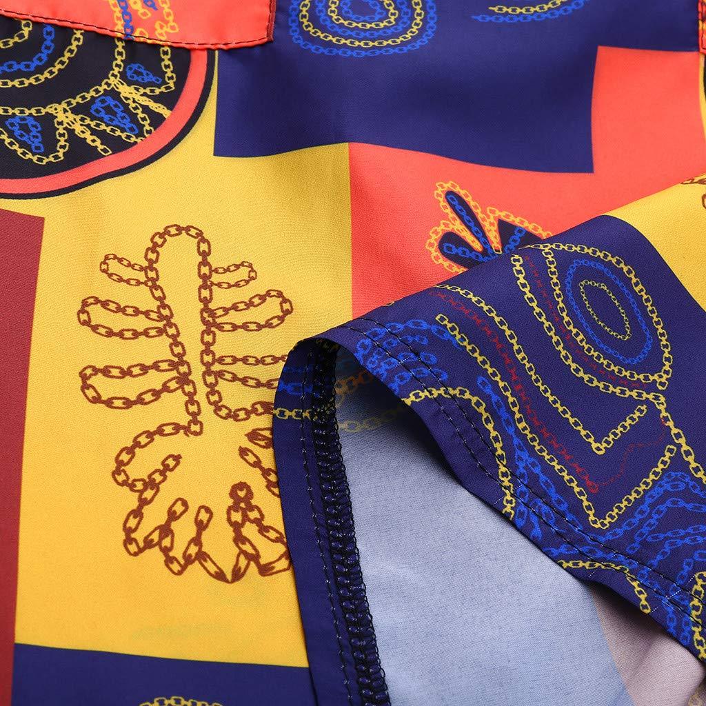 FEDULK Womens Mini Dress O Neck Classic Vintage National Pattern Sleeveless Lightweight Casual Dresses