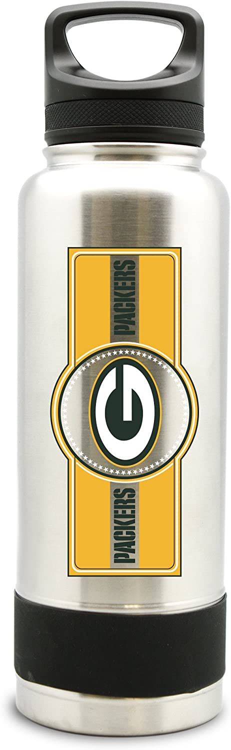 NFL Green Bay Packers 38oz Double Wall Stainless Steel Large Water Bottle