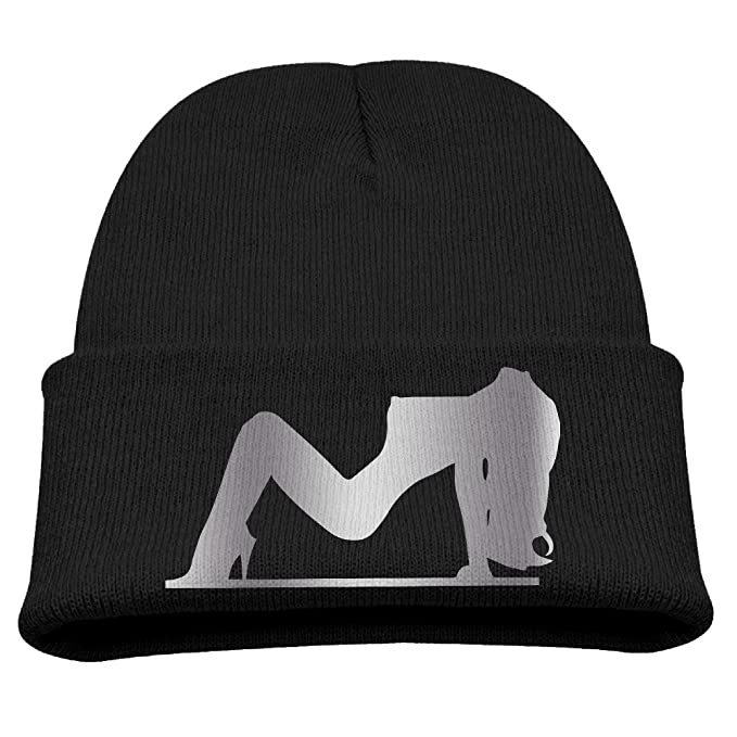 e0c5d2f0c45 Kids Sexy Girl Silhouette   1 Vi Platinum Style Beanie Cap Black   Amazon.ca  Clothing   Accessories