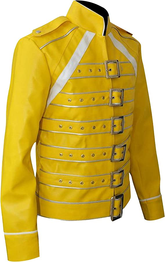 Fashion_First Freddie Mercury Chamarra para Hombre, Reina Tributo ...