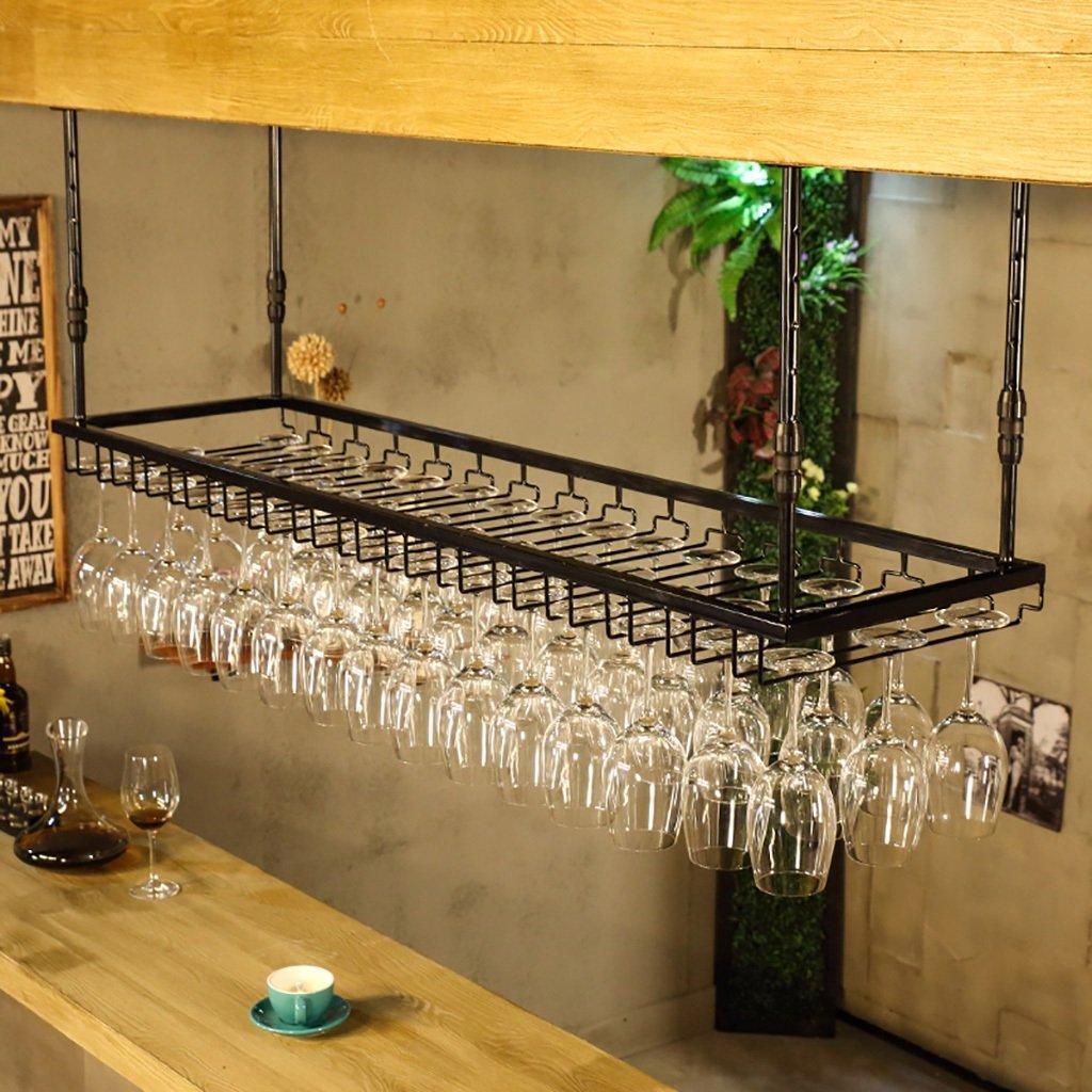 Support en verre de vin - support créatif de vin de suspension - cadre en verre de vin rouge de fer renversé - support
