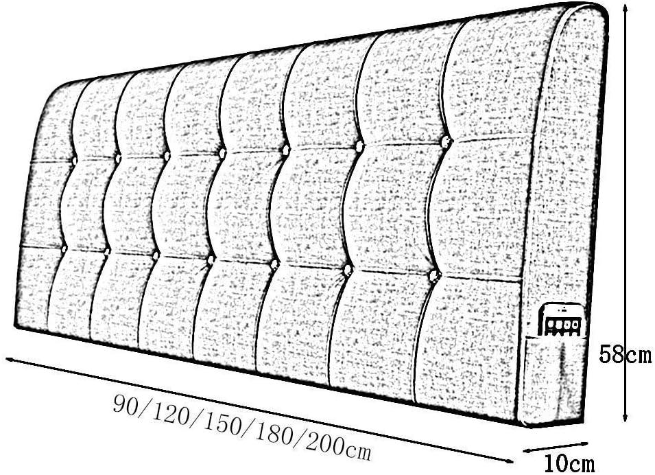 CCSU Coussin de Dossier de Matelas Coussin de Dossier Coussin de Dossier de Dossier Velcro Collant pour Les Lits sans tête de lit A + (Couleur: G, Taille: 120CM) B3