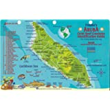 Aruba Dive Map & Reef Creatures Guide Franko Maps Laminated Fish Card