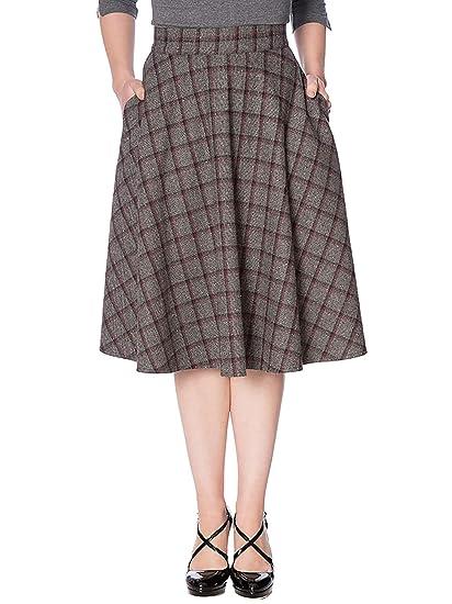 Banned SK25116 - Falda para Mujer, diseño Retro Gris XXL: Amazon ...