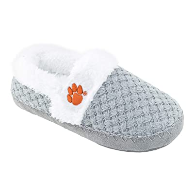 Campus Footnotes Football Womens Team Woven Fur Moccasin Slippers Shoe - Pick Team: Shoes