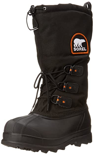 Sorel Men's Glacier Extreme Snow Boot,Black/Red Quartz,7 ...