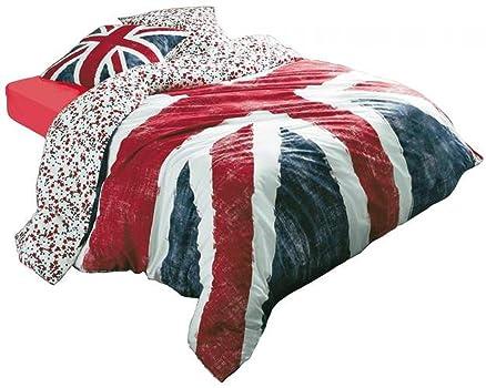Parure di letto copripiumino di bandiera inglese - T200 X 200 Cm ...