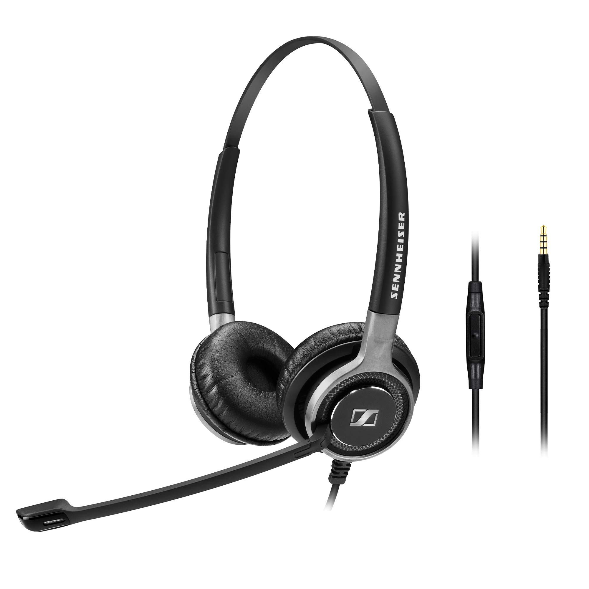Sennheiser SC 665 (507256) - Double-Sided Business Headset | For Mobile Phone and Tablet Connection | with HD Sound & Ultra Noise-Cancelling Microphone (Black) by Sennheiser Enterprise Solution