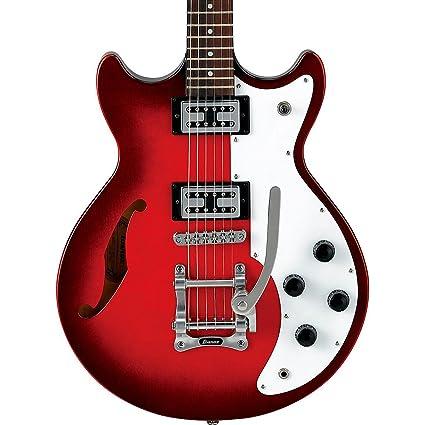 Ibanez amf73t Artcore Semi hueca cuerpo guitarra eléctrica (atardecer rojo)