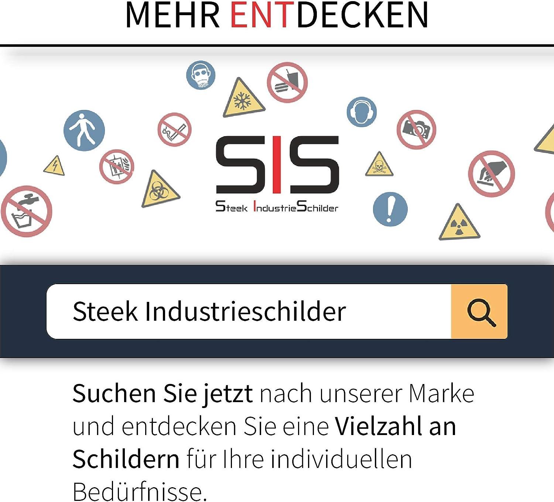 10 St/ück Schwimmen verboten Aufkleber 5 x 5 cm gem/ä/ß DIN 4844