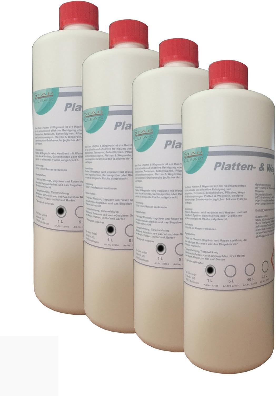 Placas & wegerein herbicida 4 x 1 l: Amazon.es: Coche y moto