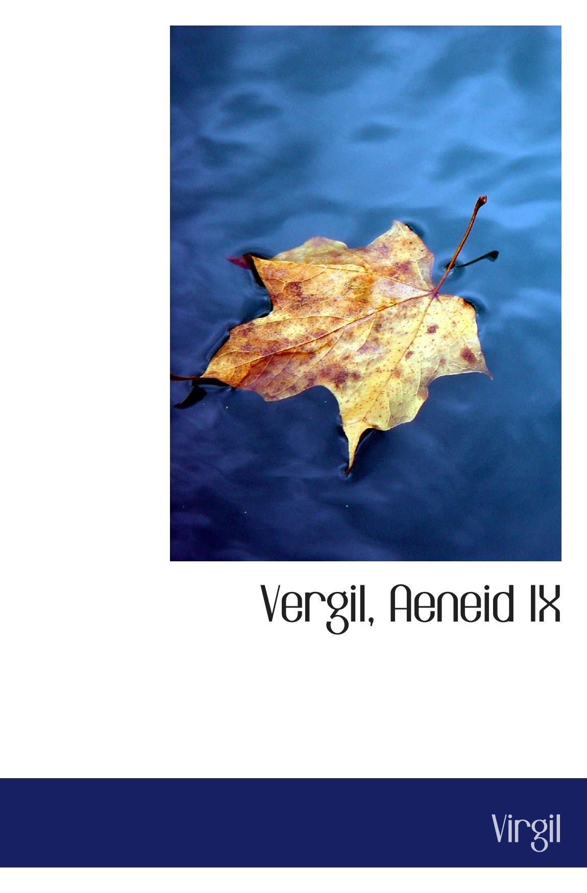 Vergil, Aeneid IX (Latin Edition) pdf
