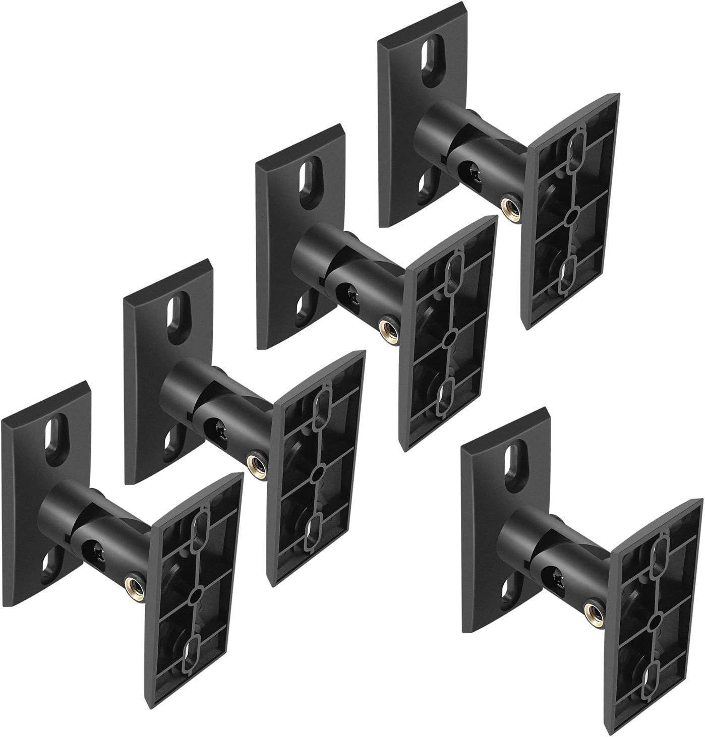 PERLESMITH Speaker Mounts - Universal Satellite Speaker Wall Brackets, 10  Pack - Adjustable Tilt and Swivel for Large Surround Sound Speakers - for