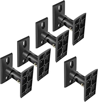 Amazon Com Perlesmith Speaker Mounts Universal Satellite Speaker Wall Brackets 5 Pack Adjustable Tilt And Swivel For Large Surround Sound Speakers For Walls And Ceilings Holds Up To 8lbs Electronics