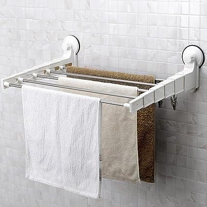 Cu soporte de toalla elegante y minimalista cuarto de baño Cupule inox-puissant estantería pared