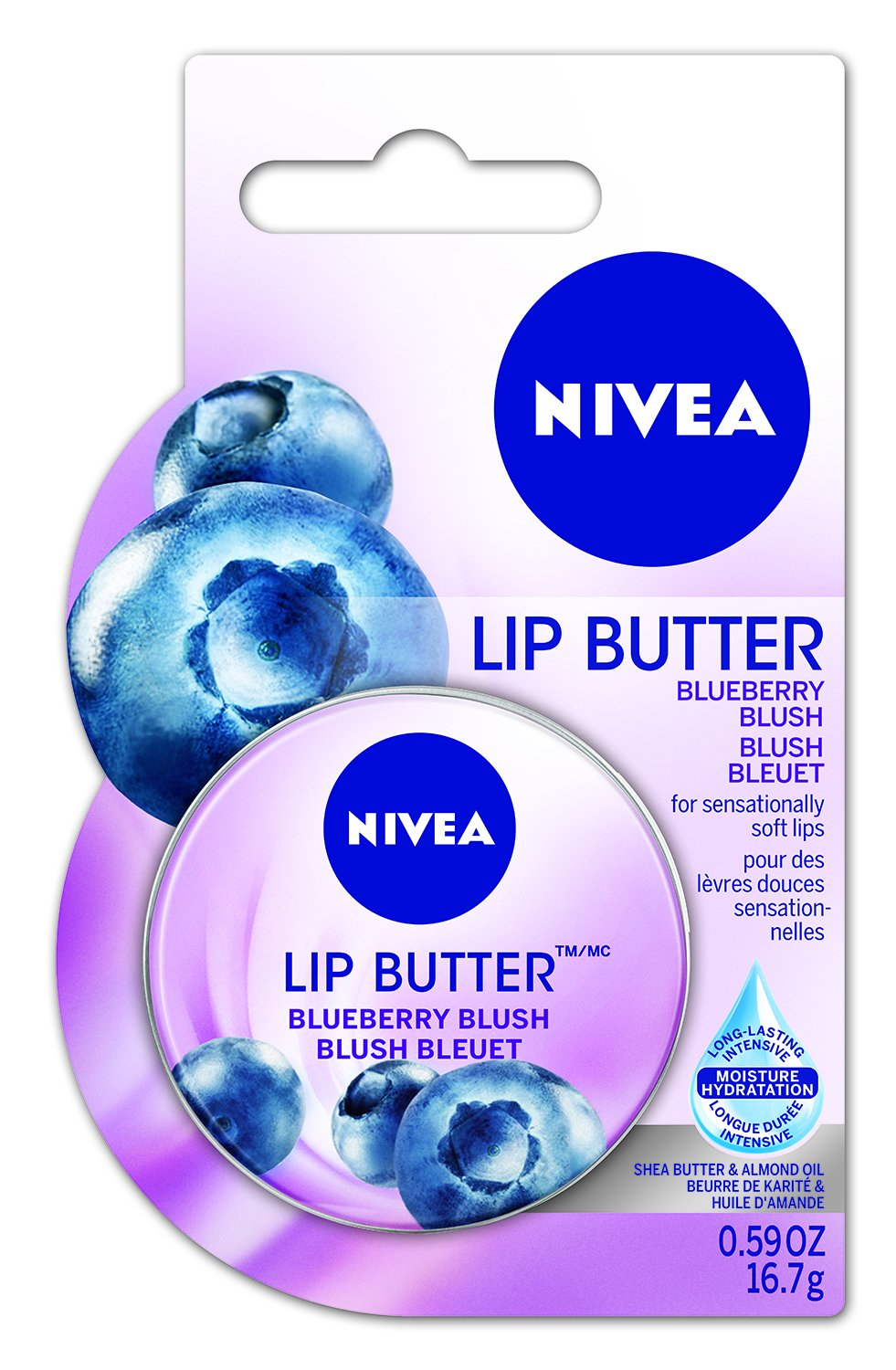 NIVEA Lip Butter Blueberry Blush, 16.7g 56594007789