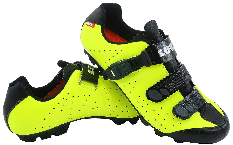 JAUNE LUCK Chaussures de vélo VTT ODíN avec Semelle en Carbone et Fermeture millimétrique de précision. 44 EU