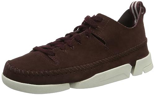 Clarks Trigenic Flex, Women's Low-Top Sneakers, Red (Burgundy), 3.5