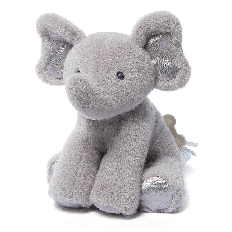 Amazon Com Gund Baby Bubbles Elephant Keywind Musical Plush Gray
