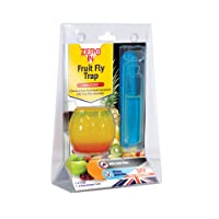 Zero In Fruit Fly Trap (Apple-Shaped, Non-Toxic, Insect Trap to Attract and Trap Bugs, Suitable for Kitchen Counters, Lasts up to 30 Days)