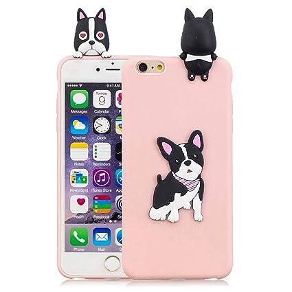 e2295887a34 Funluna Funda iPhone 6S/6 Plus, 3D Perro Mono Patrón Cover Ultra Delgado TPU