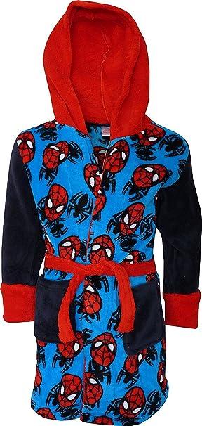 Marvel Spiderman Niños Suave paño grueso y con capucha Bata de baño / Albornoz Azul Marino-3 Años / 98 cm: Amazon.es: Ropa y accesorios