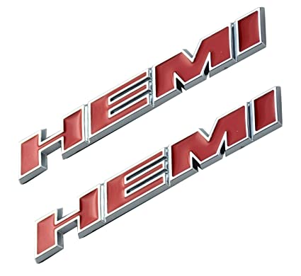 Yellow Aimoll 2pcs HEMI Side Fender Emblem Badge Plate Decal with Sticker for Dodge Charger V8 RT Ram 1500 Challenger