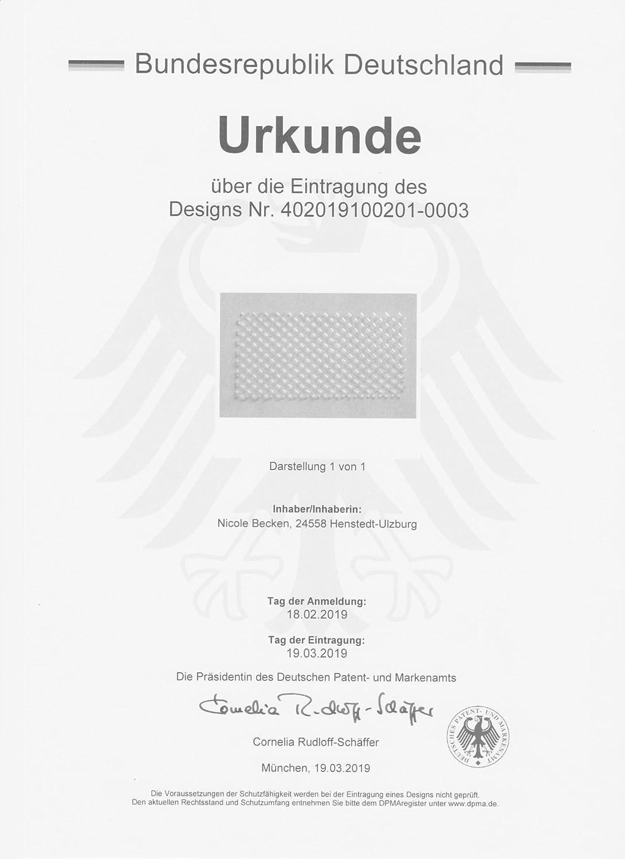 Sto/ßfugenl/üfter Sto/ßfugengitter Wespenschutz Nagerschutz Fugenl/üfter 30, 12,50 cm x 4,00 cm TRANSPARENT