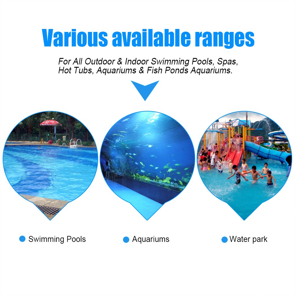 Swimming Pool Thermometer,Large Floating Thermometer for Outdoor /& Indoor Swimming Pools Spas Hot Tubs Fish Ponds ℃ /& ℉