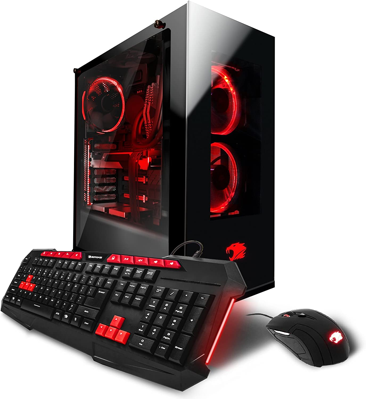 iBUYPOWER Gaming PC Computer Desktop AM1010X Intel i7-7820X 3.60 GHz, NVIDIA Geforce GTX 1080 Ti 11GB, 32GB DDR4 RAM, 3TB 7200RPM HDD, 480GB SSD, Liquid Cool, RGB, Wifi, VR Ready, Win 10