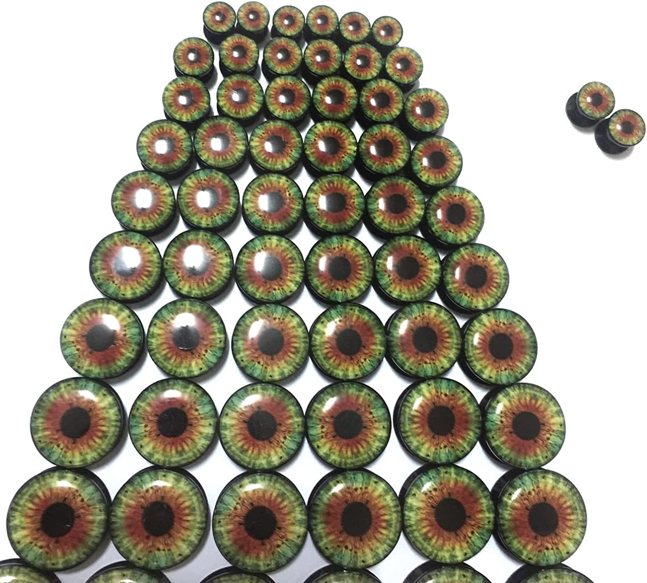 6mm to 25mm Flesh tunnels internally threaded screw MoDTanOiz 5 pairs or 1 pair
