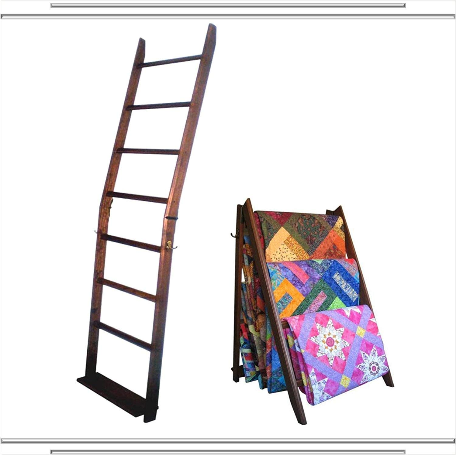 The LadderRack It's 2 Quilt Racks in 1! (7 Rung/30'' Model/American English)