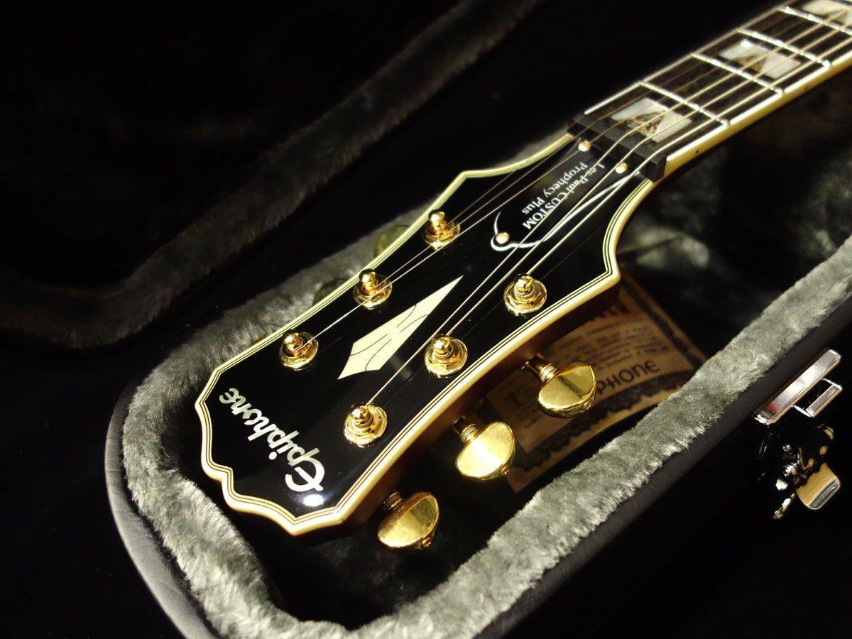 Nueva Profecía Epiphone Les Paul Custom Plus GX negro Cherry guitarra eléctrica: Amazon.es: Instrumentos musicales