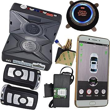 Amazon.es: Teléfono celular coche alarma sistema de seguridad con ...