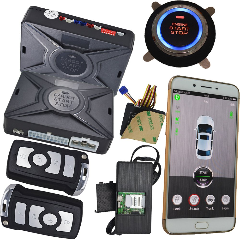 Cell Phone Car Alarm Security System With Gsm Mobile App Control GPS Online Realtime Tracking