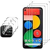 GESMA Compatible for Google Pixel 5 Screen Protector and Camera Protector, [3 Screen Protectors+3 Camera Protectors…